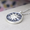 Thumbnail: Grey enamel worn silver sun and crystal necklace