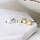 Thumbnail: Silver and gold plated heart stud earring set