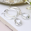 Thumbnail: Silver plated hoop and clear crystal drop earrings