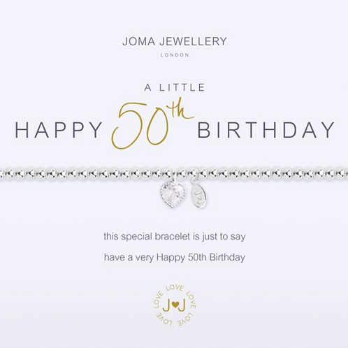 A LITTLE HAPPY 50TH BIRTHDAY BRACELET