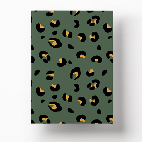 Notebook – Khaki Leopard