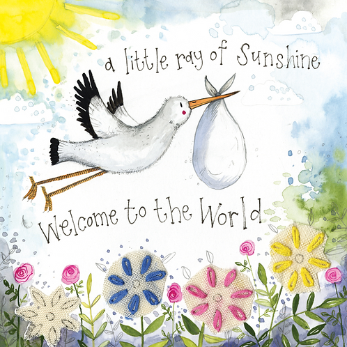 Little Ray Of Sunshine New Baby Card