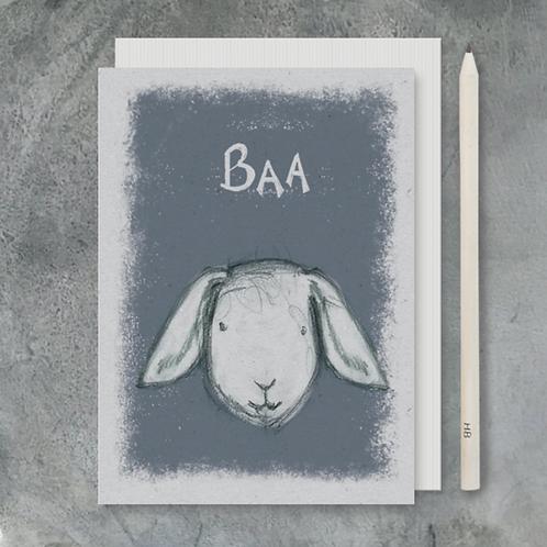 Animal Heads Card-Baa