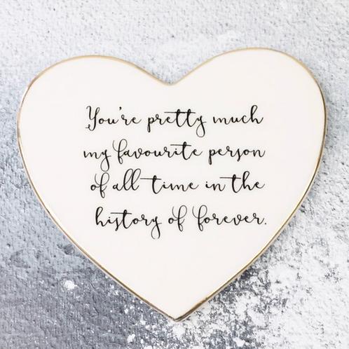 'Favourite Person' Heart Coaster