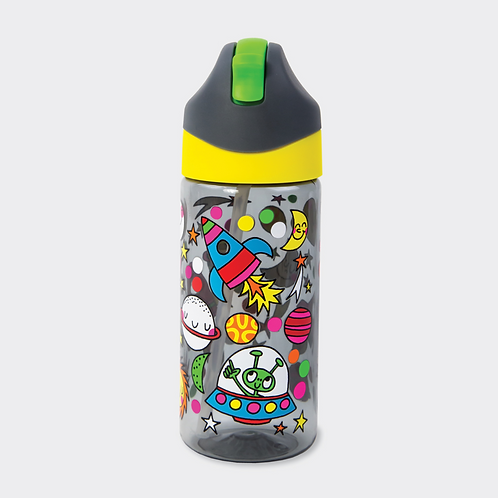 DRINKS BOTTLE WITH STRAW – SPACE