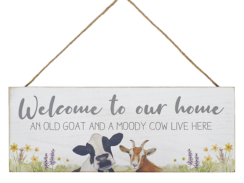 WELCOME ANIMAL PLAQUE