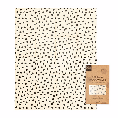 Beeswax Food Wraps – Dalmatian Pattern – 1 Pack (XL Bread Wrap)