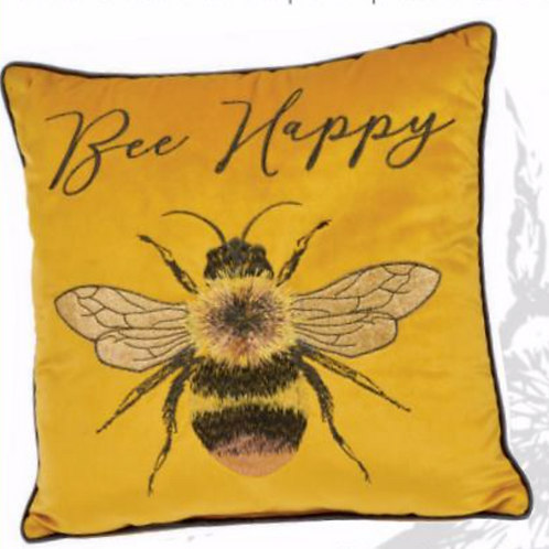 Bee Cushion-Mustard