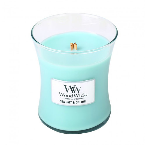 WoodWick Seasalt & Cotton Medium Candle
