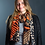 Thumbnail: Orange mix scarf with multiple animal prints