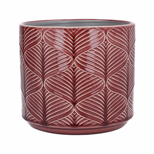Ceramic Pot Cover Med - Berry Wavy