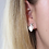 Thumbnail: Silver plated and resin double heart stud earrings