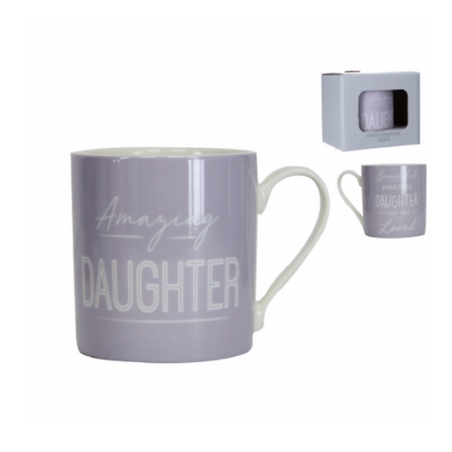 Boxed Sentiment Mug - Lilac/Daughter