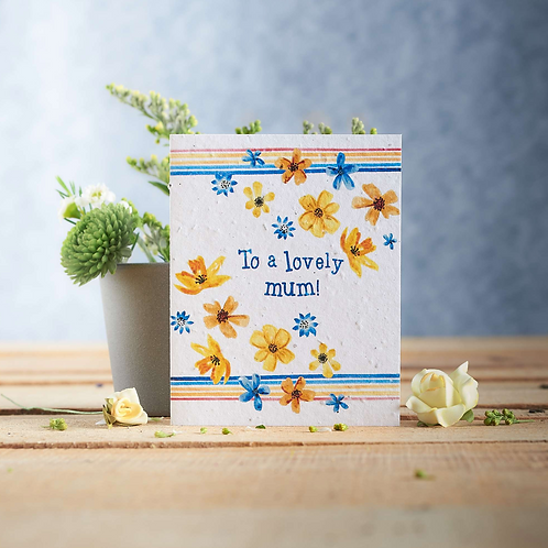 To a lovely mum – Jolly yellow – Plantable seed card