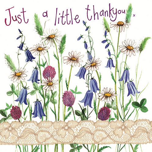 Country Flowers Thank You Card