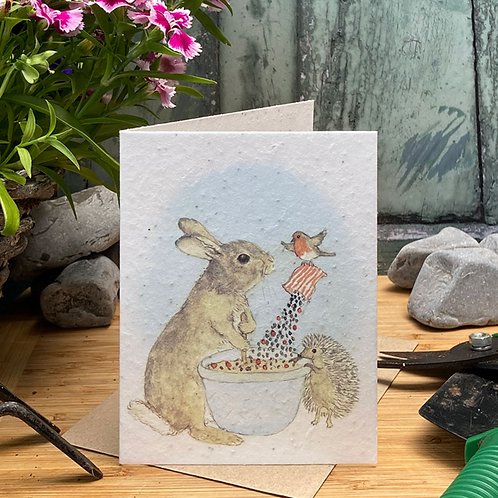 Bunny and Friends Baking Plantable Seed Card