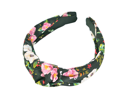 Dark Floral knot headband