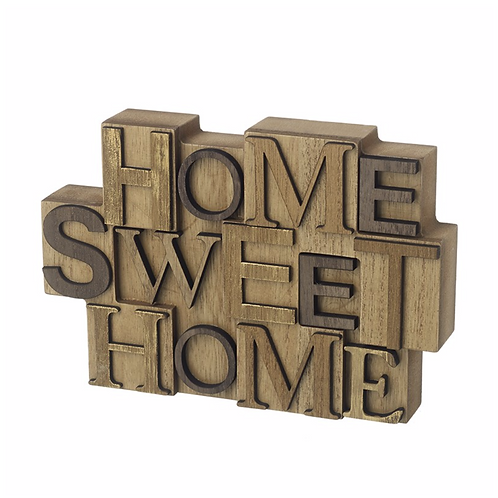 Home Sweet Home Wooden Block Sign