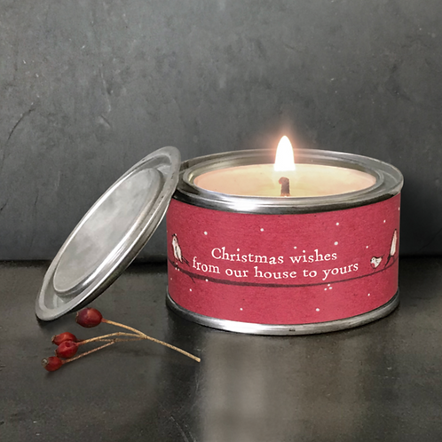 Red robin candle-From our house to yours