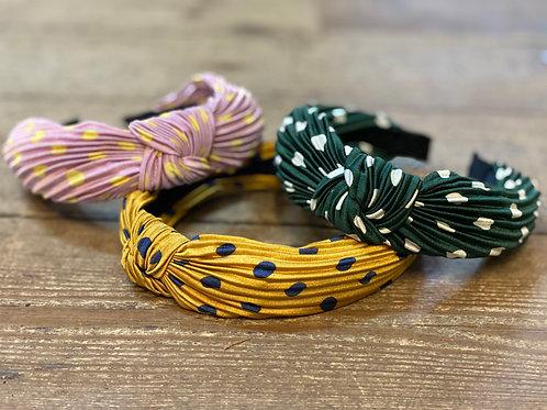 Polka Dot Crinkled Hairband