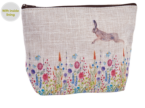 FLORAL HARE POUCH