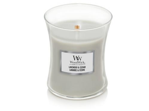 Lavender & Cedar Medium Woodwick Candle