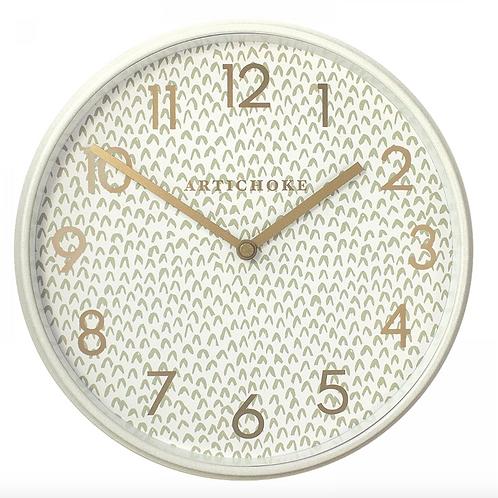 "Olive Chevron 9"" Wall clock"