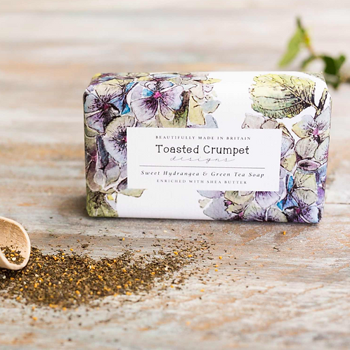 Sweet Hydrangea & Green Tea 190g Soap Bar
