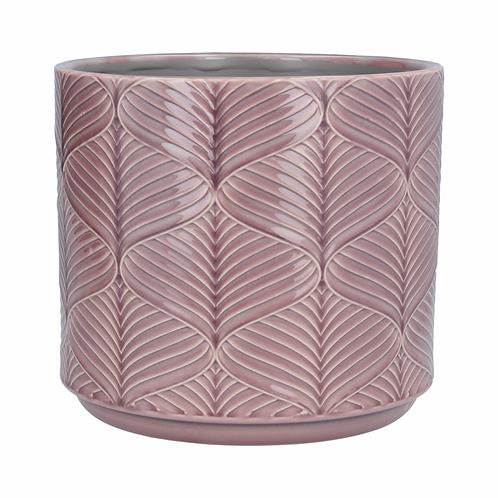 Pot Cover 20cm - Dusky Mauve Wavy