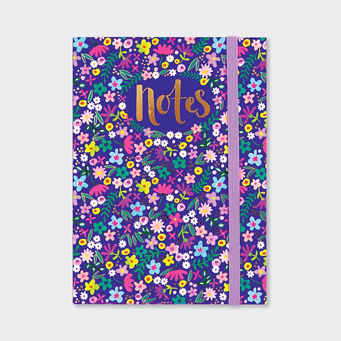 A6 NOTEBOOK ‐ NAVY FLORAL NOTES