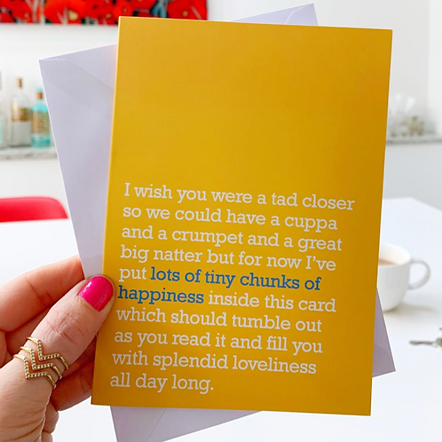 TINY CHUNKS OF HAPPINESS : MISS YOU CARD FOR LOVED ONES