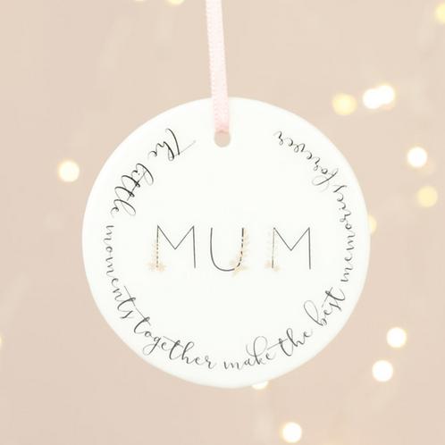'Little Moments, Best Memories' Mum Hanging Decoration