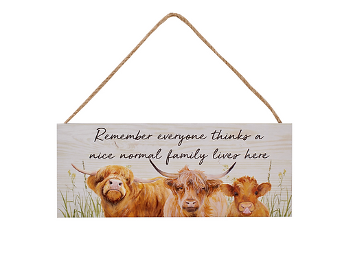 Highland Cow Family Plaque