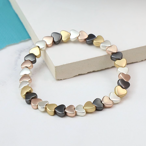 Multi Heart Mixed Metallic bracelet