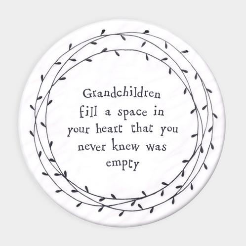 Leaf coaster-Grandchildren fill a space