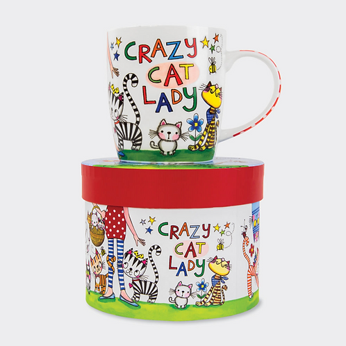 CHINA MUG ‐ CRAZY CAT LADY