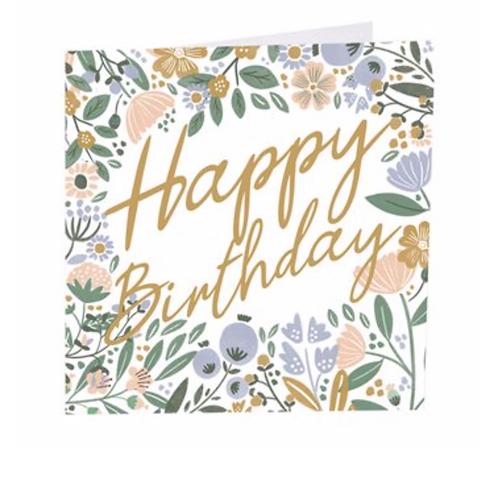 Birthday Flowers Card