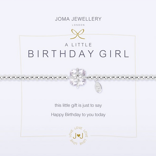 A LITTLE BIRTHDAY GIRL BRACELET