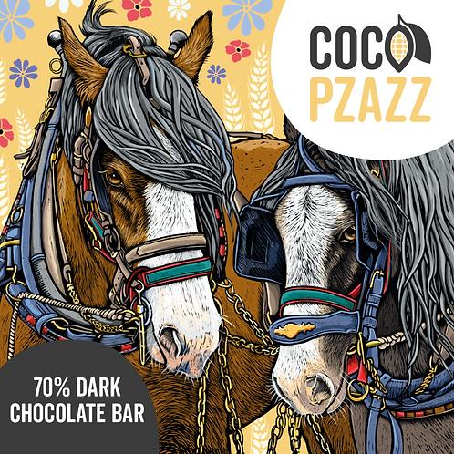Fox & Boo's 70% Dark Chocolate Bar 80g