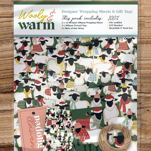 WOOLLY & WARM - WRAPPING SHEETS & TAGS