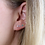Thumbnail: Sterling silver earlines with rainbow claw set crystals