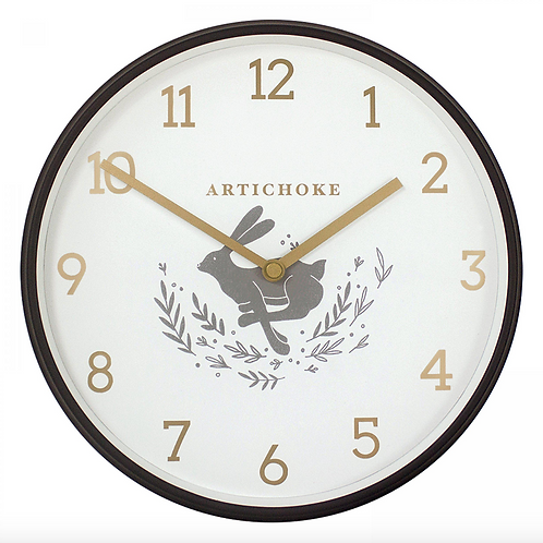 "Hare 9"" Wall Clock"