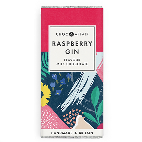 Raspberry Gin Flavoured Milk Chocolate Bar