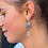 Thumbnail: Gold plated mixed stone and crystal drop earrings
