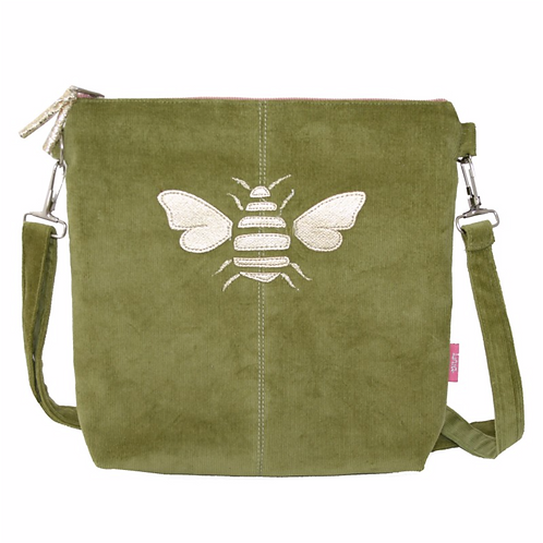 Gold Bee Messenger Bag