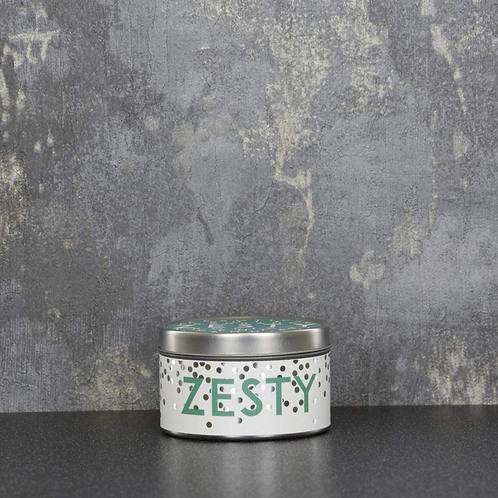 Zesty Large Tin Candle Pineapple Scent 130g