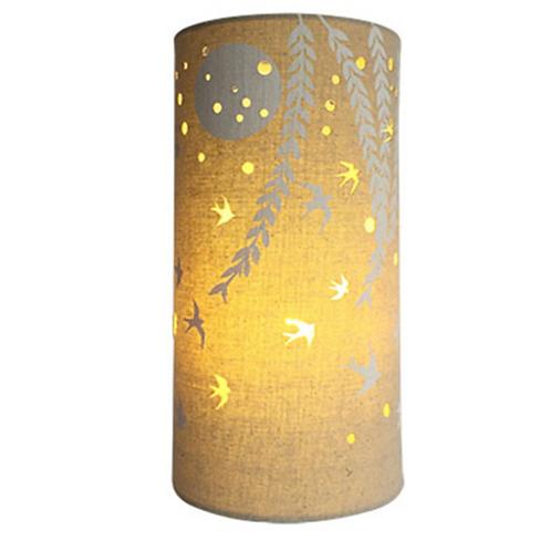 Fabric Lamp – Swallows at Dawn