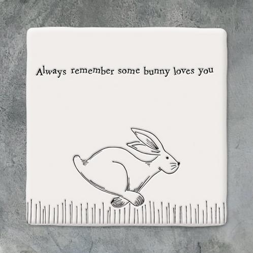 Sq coaster-Running hare