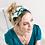 Thumbnail: Green and white tropical print headband