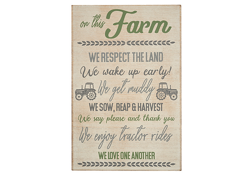 Farm Rules Plaque